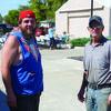 Chris and Landon Neisen arriving for lunch