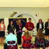 Highland's FBLA chapter held their installation ceremony at Highland High School on Thursday, October 12.  Zachary Sharpe inducted the new members and new officers for the chapter's 2017-2018 school year.  Pictured are the new officers (from left to right): Emily Dehner (President), Morgan Jennings (Vice President), Harlie Hall (Secretary), Carli Scifres (Reporter), and Grace Mihal (Historian).
