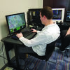 Culver-Stockton student and esports athlete, Kevin Figge, plays a popular video game in esports called League of Legends. (Photo by Austin Will)