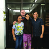 Jack and Farrah with the Provincial Health Director and the Undersecretary of the Philippines Department of Health