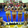 Team members who competed in Best Jumps pictured are: Front row- Hailey Mendenhall (youth level) Trinity Lair (mini level). Back row - Tessa Rost, Amanda Raleigh, Zoey Baker, Kaylee Mckenzie (all Junior level)