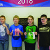Tyler O'Brien, Cooper Bliven, Denton Daggs, and Ethan Welte are advancing to the Regional Math Contest on March 10 at Hannibal Middle School.