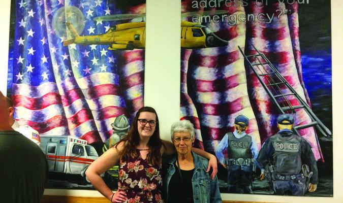 Amanda Brown and Culver-Stockton Art Professor Debra Scoggin-Myers.