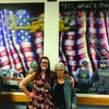 Amanda Brown and Culver-Stockton Art Professor Debra Scoggin-Myers.