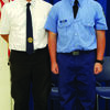 Toby Moss and David Blickhan. Otto Bruner Post 170 sponsored Moss to attend Cadet Patrol Academy.