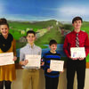 DAR recognized the following students: Caroline Trump-Clark County, Gage Winters-Clark County, Lucien Collins - Lewis County and Brody Smith-Lewis County