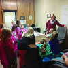 Deanne Whiston talks with girl scout about her role as Commissioner.