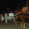 Carriage rides through the streets of Canton brought back an old fashioned feeling of Christmas. A long line formed to take rides and those waiting were entertained by a musician playing Christmas songs.