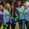Nicole Kraft, Taylor Wisemann, Laura Scott, Meredit Reed, and Lex Van Nosteran have participated in the Irish Bowling event since the first year.