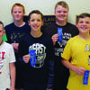 Highland students who participated in the state math contest include, front row: Sawyer Harshberger, Briscoe Post and Hunter Vorce. Back row: Remington May, Tyler O'Brien, Mason Rayl, and PJ Sparks