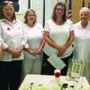 Cutline: Auxiliary members participating in the district memorial service are (l-r) Linda Schmitz of Lewistown; CeCe Spink of Callao, Brandi Lionberger of Hannibal; Erica Higgins of Palmyra,; Linda Maddox of Callao Unit and Victoria Ornelas of Hannibal.  Not pictured was Juanita Turnbough of Paris