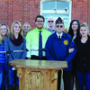 The Highland History Club has been honoring veterans with a special program for twenty years  held at the Lewis County Courthouse.  Members of the club are pictured with guest speaker Richard Pace, who is the current commander of Otto Bruner Post 170. Mr. Pace rode the lead horse pulling the caisson during President Kennedy's funeral in November 1963.