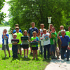 The annual Carp Rodeo was held at Wakonda State Park. One of the organizers, Russell Heindselman, is pictured with the  group of children that participated in the event.