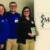 The Culver-Stockton team of athletic training students recently took second place in a quiz bowl competition. Pictured from left are Rob Carmichael, head athletic trainer at Culver-Stockton College and president-elect of the Missouri Athletic Trainers Association; Karen Fennell, president of MoATA; quiz bowl team members Tom Greene, Maryanna Catrine and Stormy Simons; Jay Hoffman, department chair of athletic training and health sciences at Culver-Stockton and secretary of the MoATA; and Christe Thomas, clinical education coordinator at Culver-Stockton.