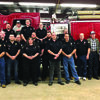 The LaGrange Fire Department and auxiliary members present at the annual Firemen's Banquet were front row (l-r) Chance Shrader, Dave Blickhan, Henry Gunsauls Jr., Tiffany Blickhan,  Kyle McAfee, Henry Gunsauls Sr. Second row (l-r) Raymond Nichols, Barry Pfister, Dwight Davi, s Nathan Henderson, Mike Henderson,  Mark Tanner and retired life time members Amos Martin, Mike Lowe and Craig Todd. Third row: Grant Kennedy, Theresa Gunsauls, Jared Henderson and Faith Shrader.