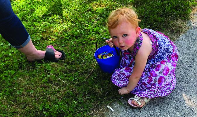 Estina was one of many children who enjoyed picking up candy
