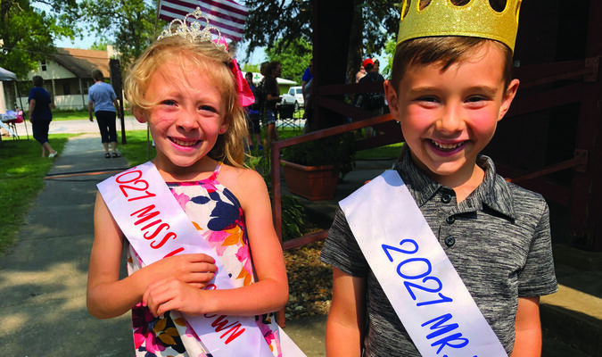 Carson Lay is the 2021 Little Miss Lewistown  and Brice Seals was selected Little Mr. Lewistown.