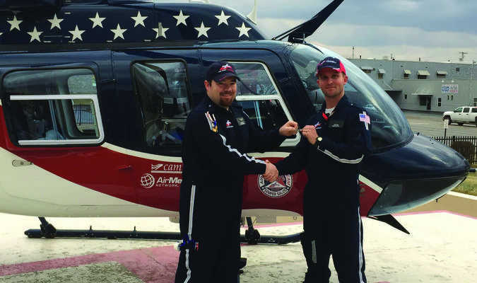 Please join us in welcoming our new Pilot to Air Evac 5. Pilot Tony Ring has joined our base as a new full time pilot. Tony is seen here being presented with him.