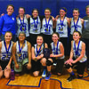 The Mark Twain 6th Grade Lady Tigers took First Place at the Paris Tournament. Bottom row from left are Summer Miller, Abbie Wilson, Jaclyn Shoemyer, Maddison Waddel, and Olivia Rawlings. Top row from left are Coach Tomi Lowes, Maddison Epperson, Kaycie Simpson, Rachel Shoemyer, Adelynn Palmer, Audrey Ross, and Coach Adria Palmer.