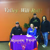 Hannah Spoonhower recently signed to play softball for Missouri Valley. Pictured with Hannah are Head Softball Coach Daniel Allen and her parents, Tony and Paula Spoonhower.