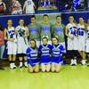 Seniors who were recognized at Senior Night, Friday, February 10, were back row from left, Kaitlyn Whaley, Katie Neff, Hannah Spoonhower, Bailey McMillen, Brad Tonkison, Blake Curry, Kaelee Ogle, Olivia Jones, and Maddy Ford. Front row from left are Kelsey Kendall, Jessica Christner, and Sylvia Astorino.