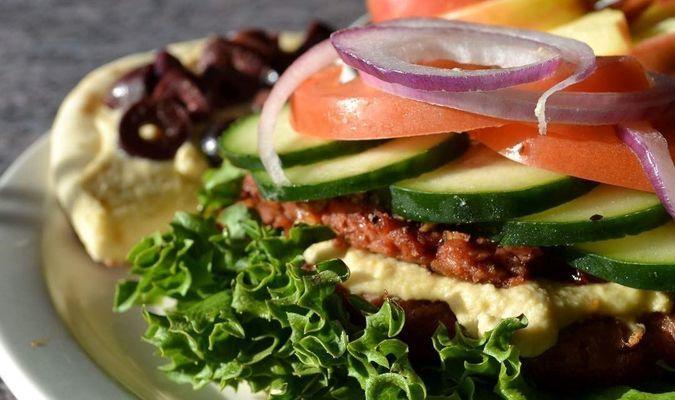 Mark Twain Dinette's Mediterranean Veggie Burger