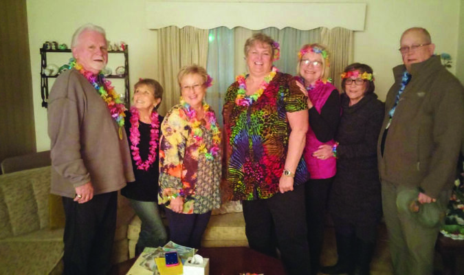 Some members of the Perry Musique are pictured at the January meeting. From left to right are Dennis Routt, Peggy Routt, Debbie Carey, Susie McGee, Patti Grimmett, Rae Baer, and Jim Baer.