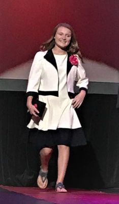 Krayleigh Power at the 2018 State 4-H Fashion Revue