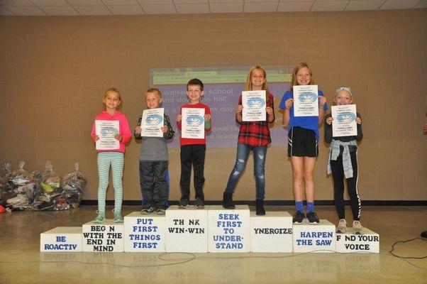 Ralls County Elementary September Habit Heroes:  Saige Anderson, Blake Mayerhofer, Bennett Bogue, Emerson Eckler, Jenna Ross, and Bella Hawkins.