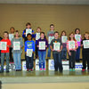 Ralls County Elementary January Habit Heroes are pictured front row from left Ayden Waters, Rilee Dowell, Trevon Mayfield, Natalie Lake, Kaleb Ingram, Bronwyn Harding, and Landon Armour.  Back row from left are Ella Moss, Amaris Melvin, Ean Colbert, Jackson Hathaway, Gage Fountain, Olivia Kealen, Kendra Lake, and Jackson Steward