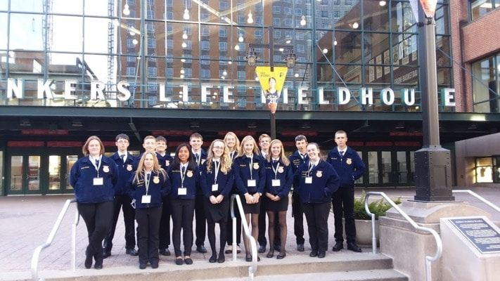 Fifteen Members of the Mark Twain FFA and their sponsors, Joe Dameron and Caitlin Blakely, attended the National FFA Convention in Indianapolis, Indiana October 24 through October 27.
