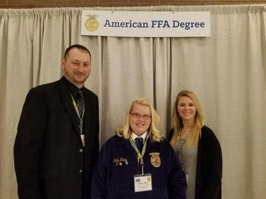 Bailey Klise received her American FFA Degree at the National FFA Convention in Indianapolis, Indiana, on October 27.