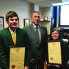 Rep. Jim Hansen is pictured with Reed Niemeyer and Ashlyn Peterson, participants in the annual Missouri 4-H Legislative Academy.