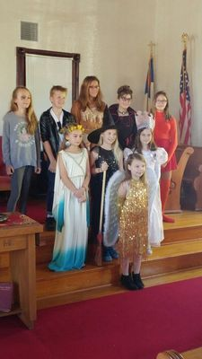 Members of the Perry Musique Club Juniors are pictured at South Fork Presbyterian Church after they performed their Annual Spooktacular.