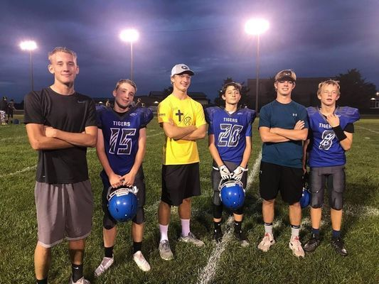 Pictured left to right - Brayden McLeod and Lukas McLeod; Jace Barton and Jaxen Lake; Preston Eckler and Conner Eckler.