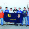 The Rick Lawrence Outdoor Sportsman's Safety Awareness group recently donated two Remington 870's and 10 shell pouches to the Mark Twain FFA Trap Team. Pictured left to right are Rick's son, Joe Lawrence, founder of the group, and grandson Jack Lawrence along with trap team members Jacob Campau, Brady Stevenson, Kyla Ingram, Tyler Lanier, Austin Black and Paul Hopke, Rick Lawrence Outdoor Sportsman's Safety Awareness group board president.