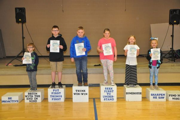 RCE March Habit Heroes are:  (l to r)  Bentley Everly, Colby Smith, Ian Torrence, Aliceson Gooding, Annabelle Roberts, and Vada Rule.