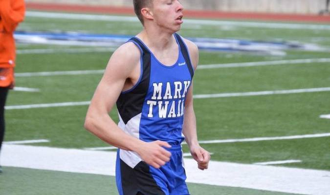 Devin Neff finished first in the 3200 meter run and 3rd in the 1600 meter run at the CanSippi Relays on April 13.
