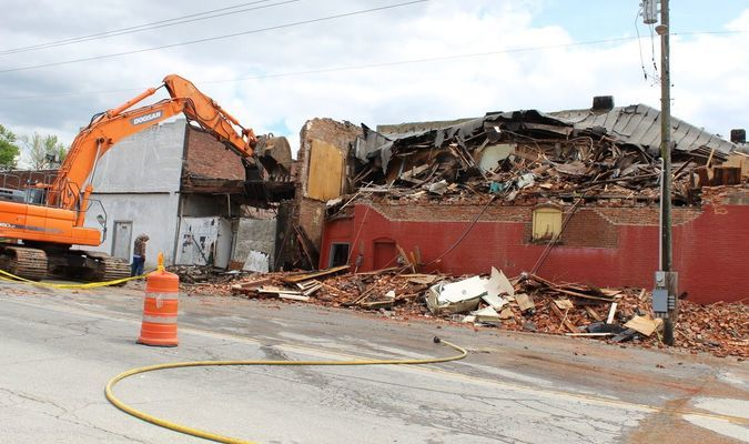 Two additional buildings, facing 4th Street,  will be taken down, as they are all dependent on each other to stand.