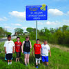 St. William Youth is one of many local groups who adopt a section of highway in Ralls County. Groups and individuals pick up trash several times a year. These 4th and 5th graders picked up the section of Hwy 154 that goes through Perry on April 19. From left are Kevin Cruz, Shawn Buckman, Samantha Barns, Sam Northcutt, and Wyatt Evans.