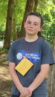 Representing Ralls County at 4-H Teen Camp was Jocelyn Hudelson.