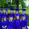 Perry Christian Academy Kindergarten graduates are in front from left Kaitlyn Ward, Kensie Stevener, Kennedy Duncan, Calista Glasscock, and Chelsea Gifford. In back from left are Keaton O'Neal, Korbin Brown, Marshall Buckman, Isaac Cook, and Austin Hodges.