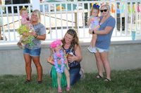 The 2019 Girls Bathing Cuties Center Park Days winners are from left Gracelynn Woodhurst, 1st place; Aarralynn Willard, 2nd place; and Pieper McCurdy, 3rd place.