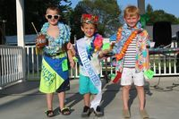 The 2019 Little Mister Center Park Days winners are from left Weston Willard, 3rd place; Peyton Elliott, 1st place; and Henlee Hudson, 2nd place.