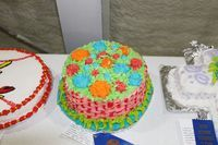 Rachel Hodges' Cake Decorating exhibit.