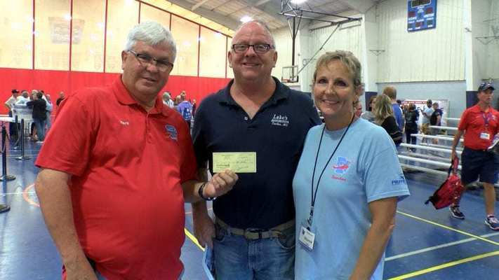 Lake's Automotive LLC in Center, Missouri, donated $2,115. John and Sharon Lake hosted a side by side poker run to raise the donation. Sharon also participated as a guardian for her friend and Vietnam Veteran John Booth on the 55th mission which took place on Saturday.