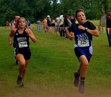 Thomas Barnes runs in the Cross Country meet at Mexico on Saturday, September 7.