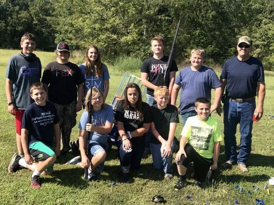 Left to Right, Back Row: Trevor Davis, Kaylea Young, Keilyn Mitchell, Zach Duncan, Anthony Duncan, Jim Anderson (Instructor) Front Row: Samuel Davis, Grace Smith, Cherish Maxwell-Riley, Kolter Cook and Brady Roland