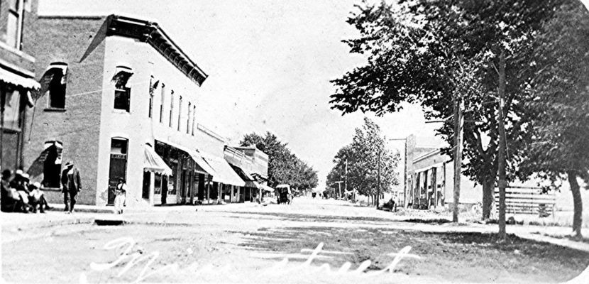 This postcard has the wrong street. It is on Public Street, not Main Street. The bank can be see at the left.