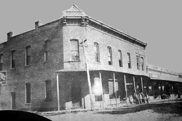 The old Center Bank pictured before it was demolished.